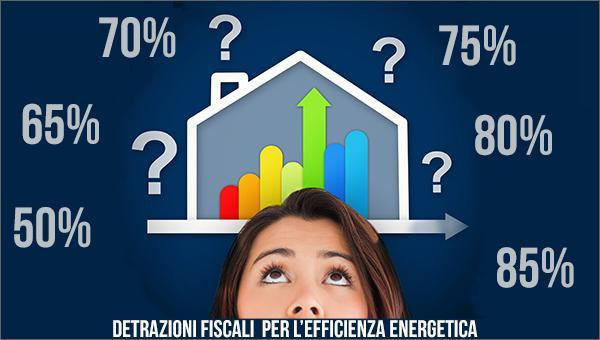 Le detrtazioni fiscali per l'efficienza energetica