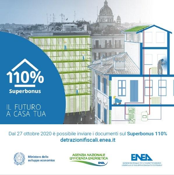 immagine copertina dell'opuscolo: Super bonus 110% - IL FUTURO A CASA TUA