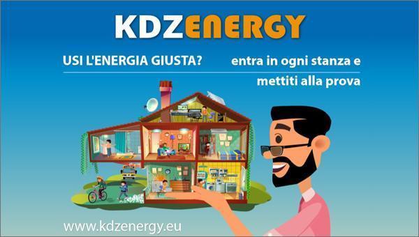 """KDZ Energy """"portale dedicato all'informazione/formazione sui temi dell'efficienza energetica rivolto ai ragazzi tra i 7 e i 14 anni"""
