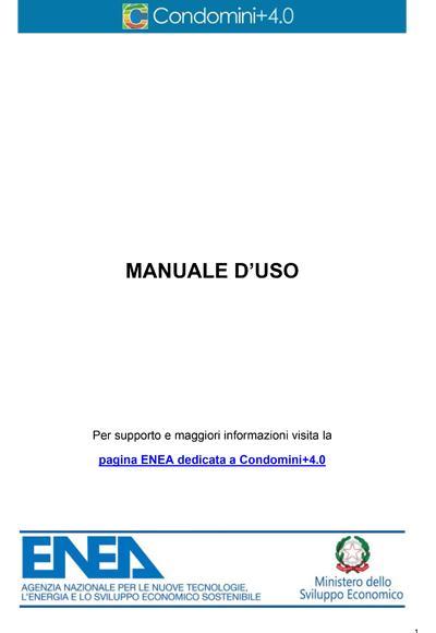 Manuale d'uso di Condomini+4.0, l'APP ENEA