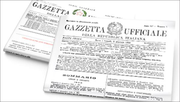pubblicazione su gazzetta ufficiale